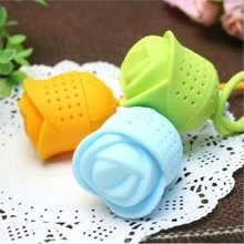 Food-grade flower silicone tea infuser in OEM design
