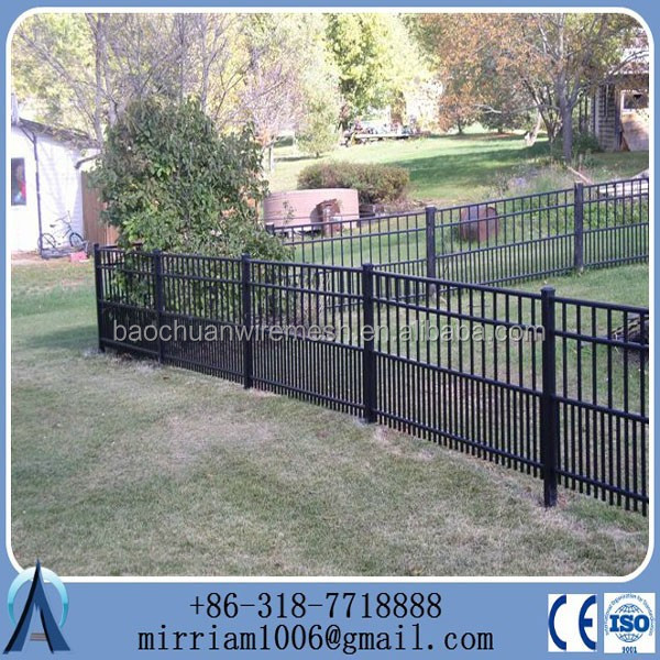 welded galvanized and powder coated wrought iron fence