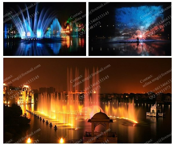 Project in Lion lake Hotel & Resorts -- 108meters long dancing musical water fountain with water screen,fireball,laser