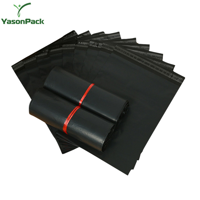 Black Freight Recycled Apparel Custom Printed Shipping Hdpe Poly Mailer Bag For Clothing