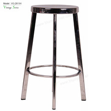 2018 New Design Durable commercial furniture Stainless Steel Round Seat High Bar Stool