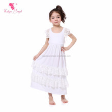 Lace White Wedding One Piece Girls Party Dresses