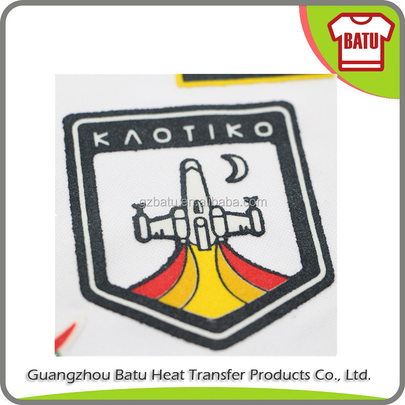 factory price logo brand custom flock transfers
