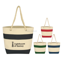 Fashion Lady Canvas Shoulder Handbag Summer Beach Holiday Tote Bag Shopping Bags
