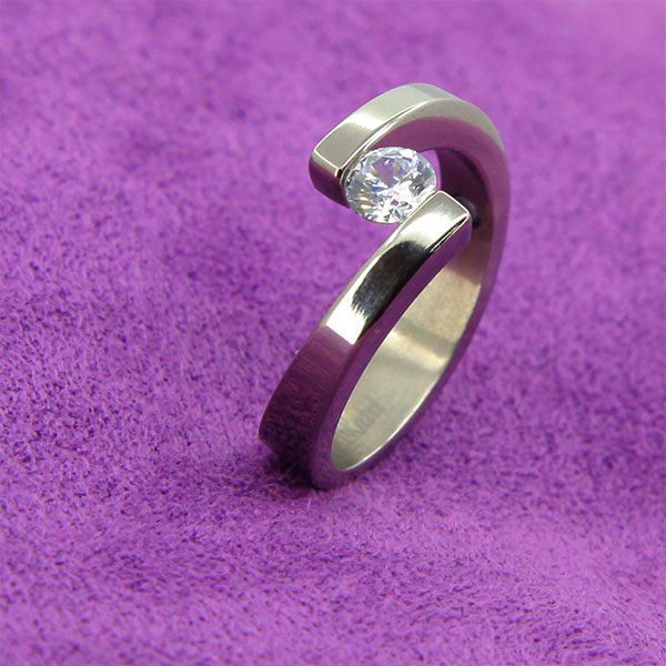 Fashion diamond finger rings silicone magnetic wedding ring