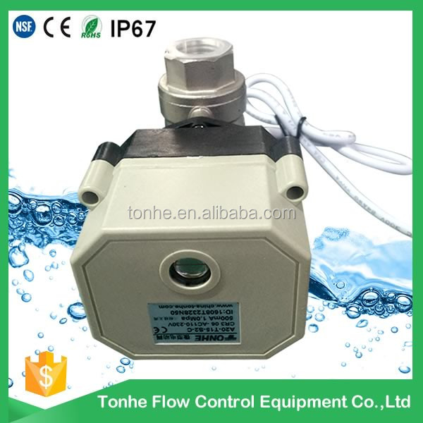 DN15 12v 24v Stainless steel motorized electric ball valve 1/2