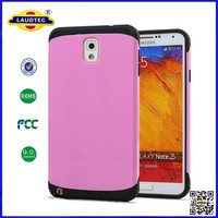 Hot Selling Slim Alumium Tough Armor Hard Case for Galaxy Note 3 Mobile Phone Covers--Laudtec