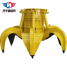Electric hydraulic crane grab bucket for waste material