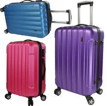 New design hot sell cheap colorful ABS trolley travel luggage with four wheels