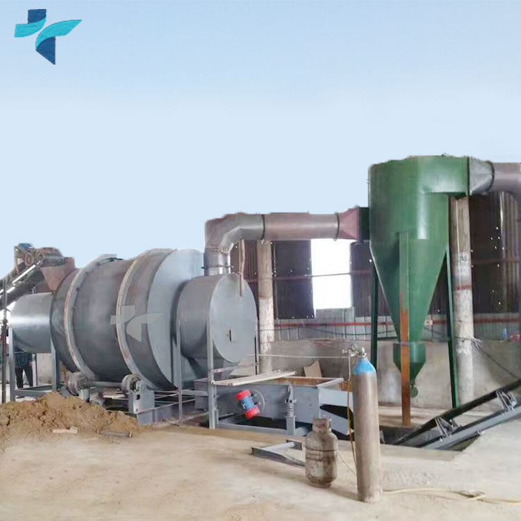 Low Consumption Three Cylinders Sludge River Sand Rotary Drum Dryer
