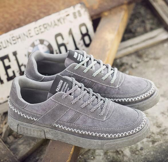 The new low to help leisure trend breathable men casual canvas shoes