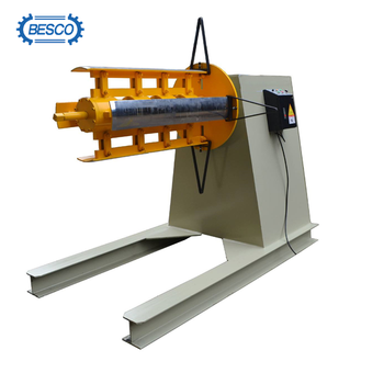 rolling mill hydraulic decoiler with car coil