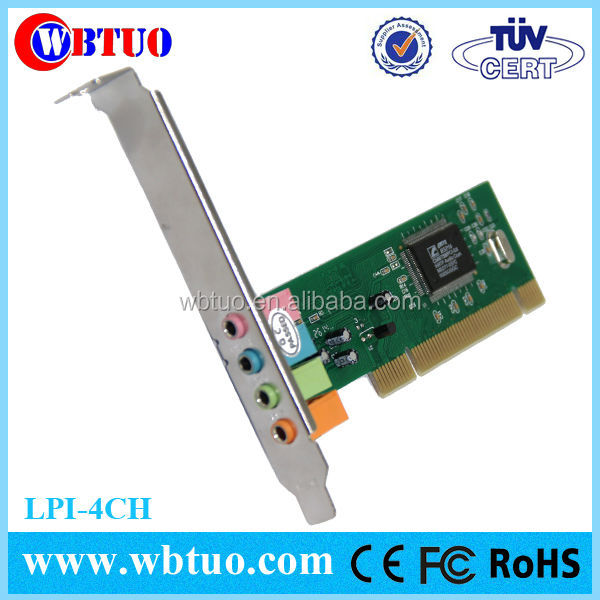 Hot selling factory supply 3D pci sound card CMI8738 4ch