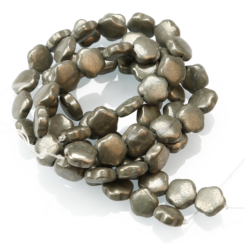 Zenper wholesale factory outlet facet pyrite stone bead for jewelry making