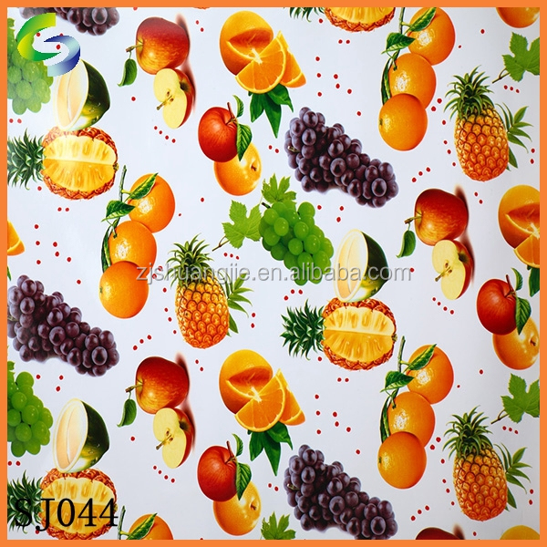 Non-woven Fabric Backing Plastic Cheap PVC Tablecloth