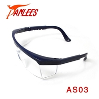 Wholesale PANLEES manufacturer China industry eye protective glasses adjustable PC lens work wear goggle safety glasses lab