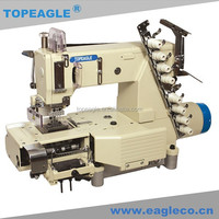 TOPEAGLE TMN-4404PMD-D series Cylinder-bed Multi-needle Double Chain-stitch kansai special industrial sewing machine