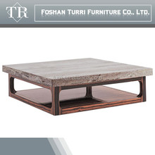 Wooden Simple Modern ebony veneer coffee table for living room set, living room furniture