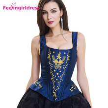 Wholesaleblue Thick Strappy Women Overbust Corset Sexy