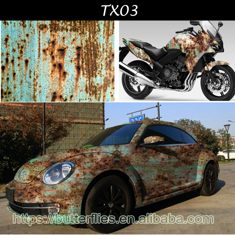 Wholesale Air Channels Exterior Decoration Iron Rusty Colored Vinyl For Car Protection New Wrap <strong>Film</strong>