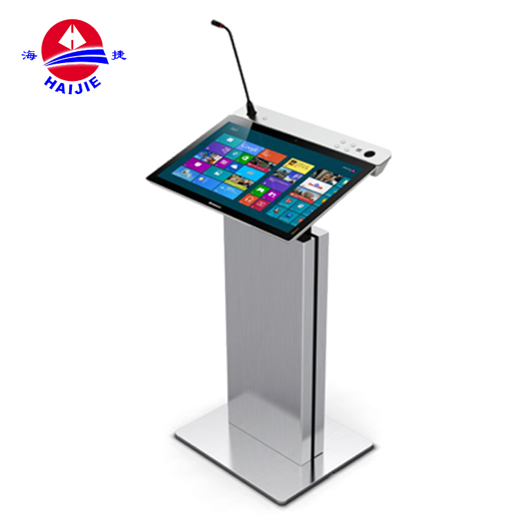 High quality design aluminium lectern podium/ modern metal podium