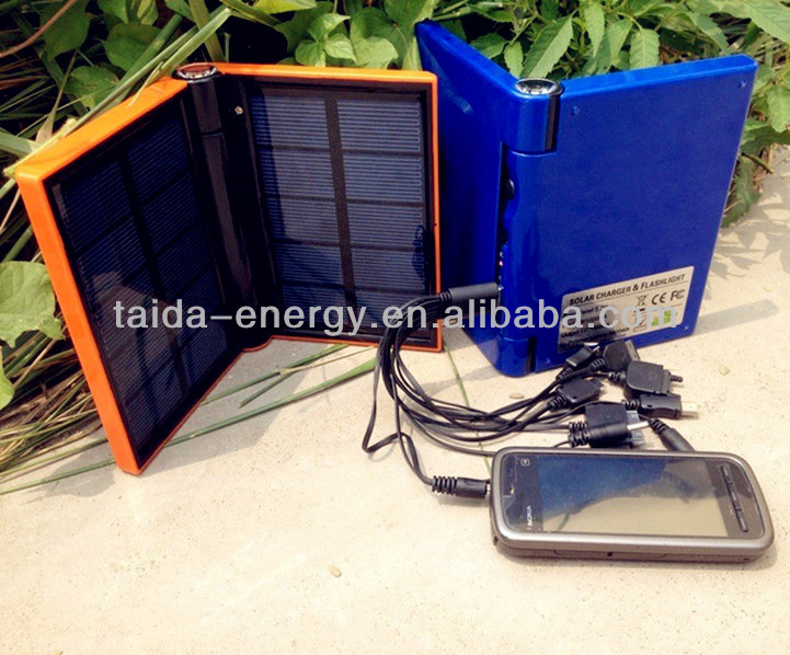 Sun power source power bank fast mobile power travel charger with lighting function