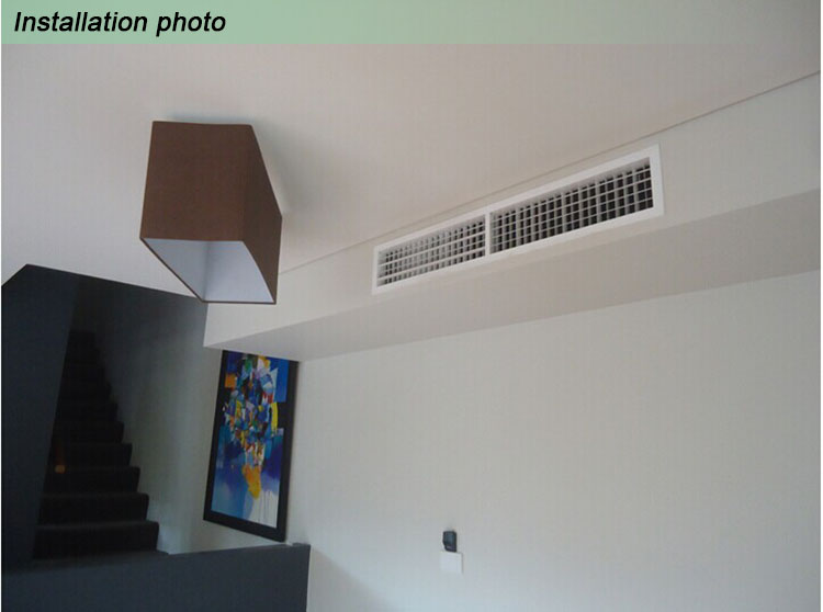 Decorative Aluminum Return Air Vent Grille Double