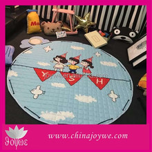 Amazon hot sale custom round baby play floor mats