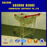 new style wholesale supermarket shopping carts and trolleys uesed for supermarket
