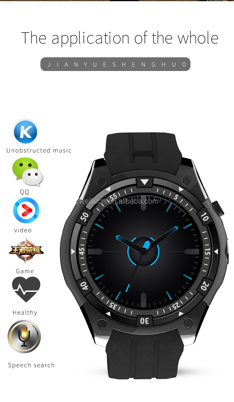 UNIWA X100 MT6580 Quad Core Android 5.1 Round Screen WIFI 3G smart watch phone