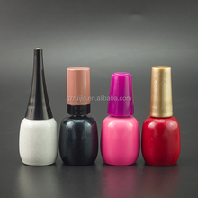 10ml large bottle matte frosted glass nail polish bottle with brush