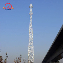 Lattice self support four-legged square angle steel tv telecom mast tower