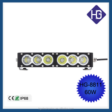 2015 New 10W Power CREES LEDs IP68 9-60V Single Row Super Slim Amber LED Light Bar