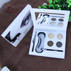Brand name waterproofing cosmetic eyebrow Makeup Kit Wax,Brush,Mirror&Stencils eyebrow powder kit for eye makeup