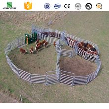 12ft 6ft galvanized goat sheep hurdles/32mm cattle yard panel/6 bar galvanized hogget sheep panels for Australia/New Zealand