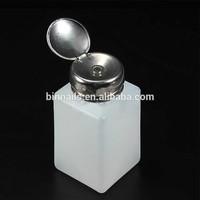 200ML Liquid Alcohol Press Nail Polish Remover Dispenser Cleaner Pumping Bottle