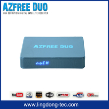 azamerica dvb t2 azbox receiver tocomsat Azfree DUO with free iks sks iptv for latin america