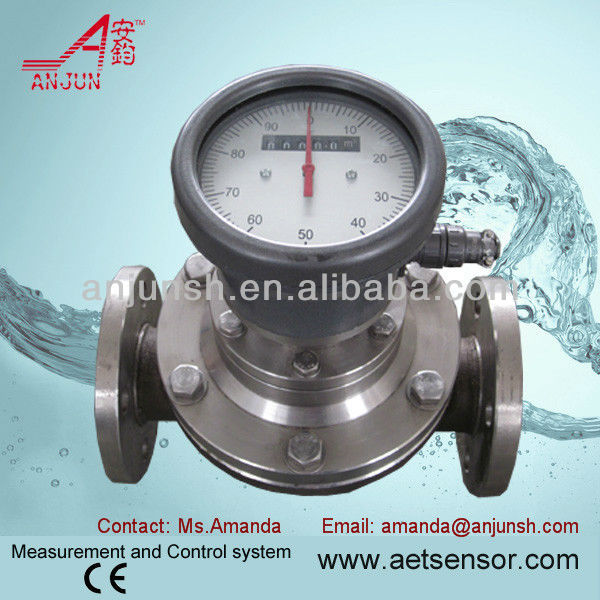 Low Cost Anjun LC Heavy oil Fuel Flow Meter Oval Gear Electronic Type