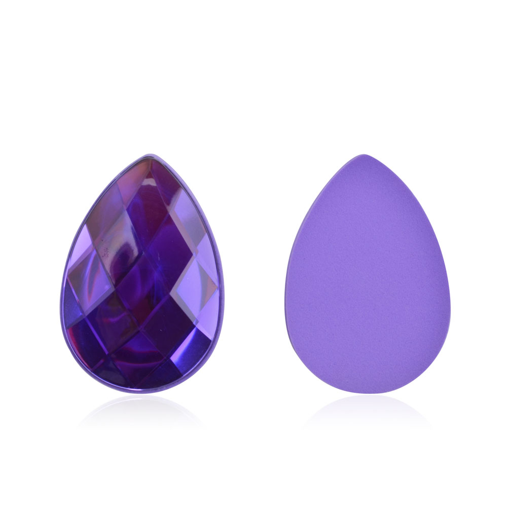 Beautiful Sponge Diamond Bling Purple Waterdrop Makeup Powder Puff