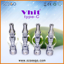 2017 Hottest seego vaporizer Vhit type C glass tank for thick atomizer kit