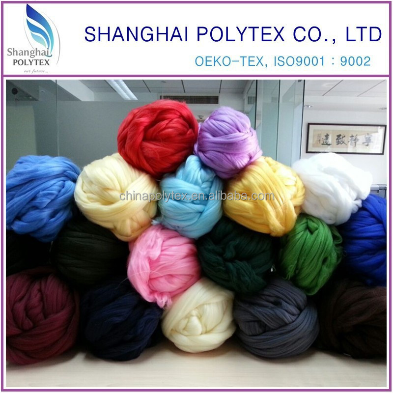 China wholesale 100% virgin polyester tops 2D, 2.5D, 3D for spinning
