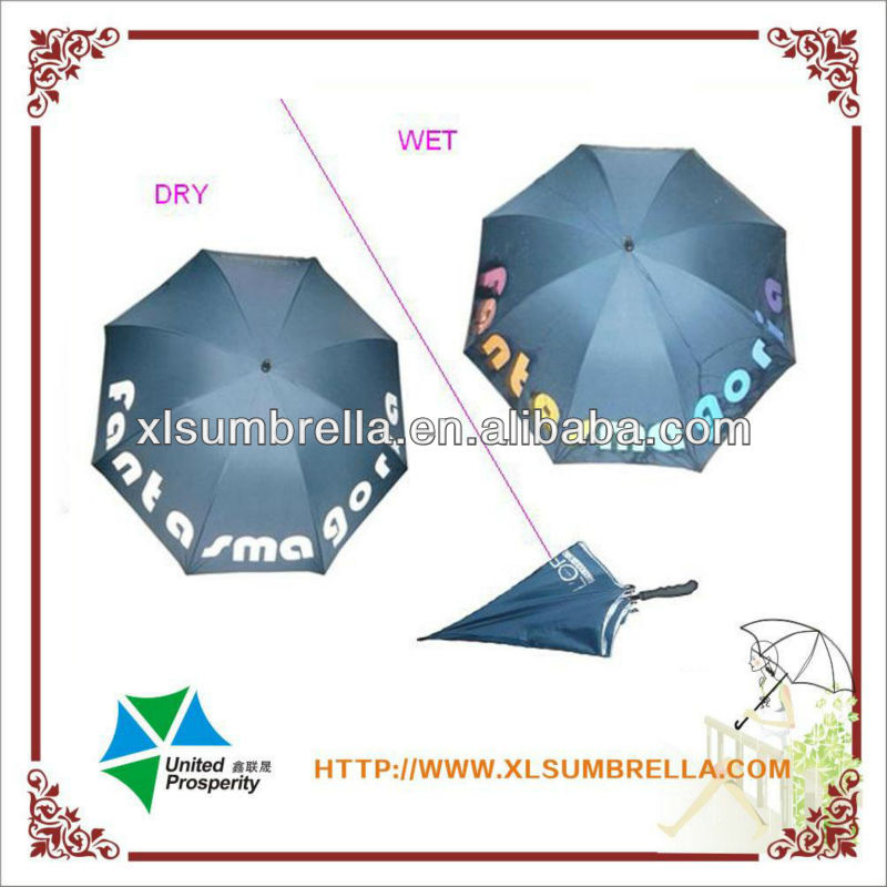 golf size in color change printing outdoor magic umbrella