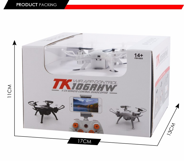 wholesale alibaba 4 channel 4 axis white rc aircraft with led light