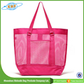 Best Sell See-Through Colorful Mesh Beach Bag