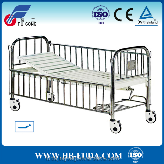 A-47 cheap stainless steel baby cot big boy hospital bed with back rest function