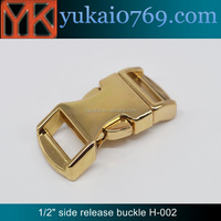 "Yukai 1/2"" gold side release buckle metal curved buckle for paracord bracelet"