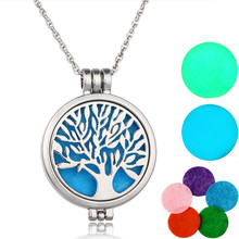 Hot Selling Classic Aromatherapy essential oil Diffuser Locket perfume Necklace Pendant Tree Of Life Necklace
