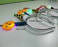 Pumpkin light up bow headband for Hallowmas Party decoration