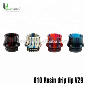 high quality Epoxy Resin tfv8 drip tip 510 resin drip tips 810 drip tip for rda