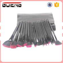 2017 Guteng High Quality 26 PCS Wood Handle Professional Makeup Brushes Cosmetic Brush set Make Up Kit With Case